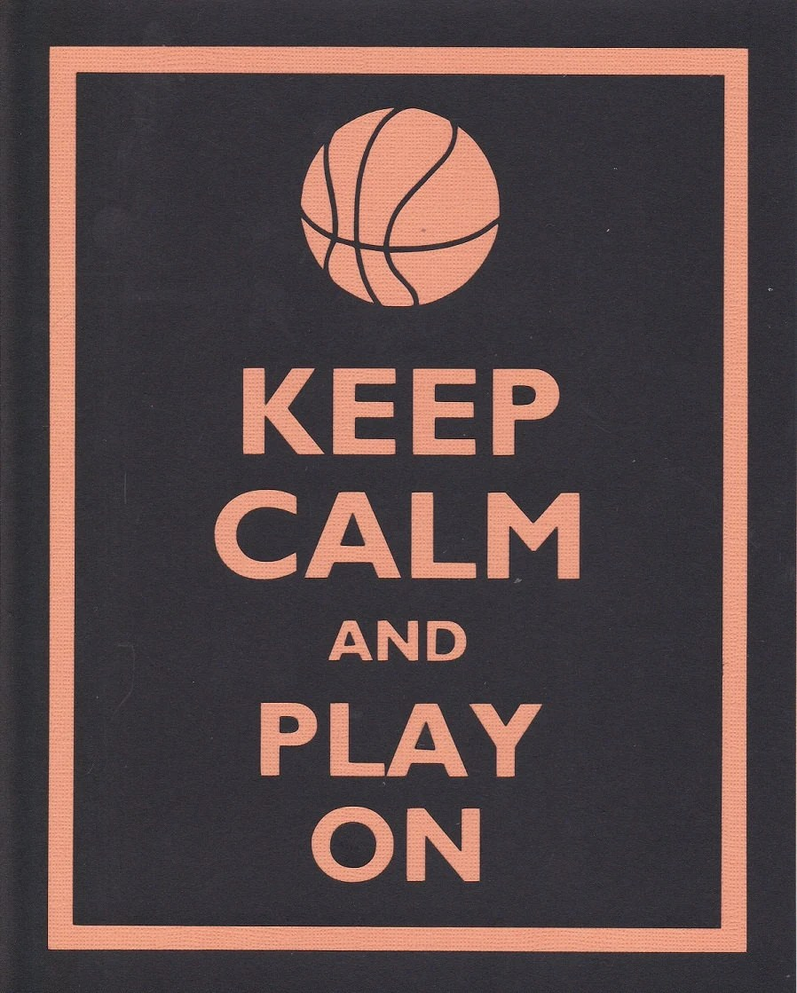 Keep Calm and Play On (Basketball) Graphic Wall Art