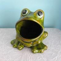 Frog Sponge Holder Ceramic 1970's by RetroGirlRedux on Etsy