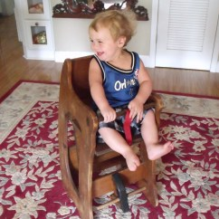 Rocking Horse Chair Desk Wood Rail Moulding 3 In 1 High Childs Vintage
