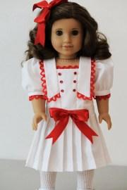 white sailor style dress american