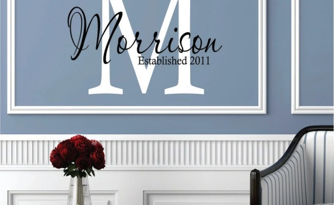 Wall Decals Personalized Family Name Custom Name Wall Decal