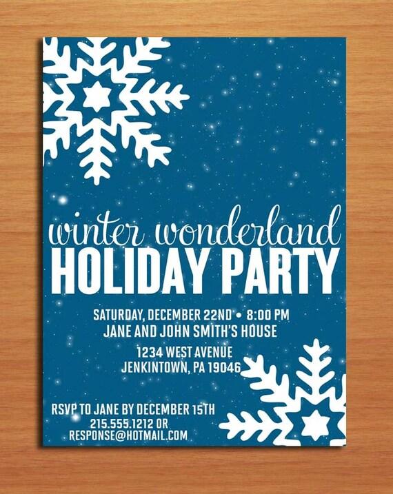 Winter Wonderland Customized Printable Christmas Party