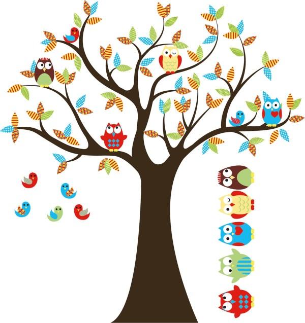 Kids Tree Decal Nursery Vinyl Owl 5