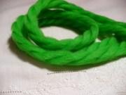 bright green 70s yarn hair ribbons