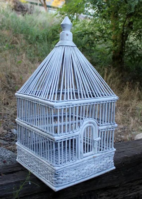 Vintage Palecek Bird Cage WickerRattan Large Size Approx