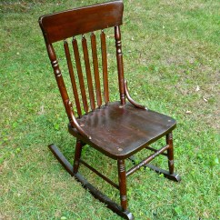 Antique Wooden Chairs Pictures Salon Reception Armless Sewing Rocking Chair Wood