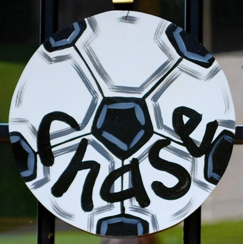 Soccerball Door Hanger Soccer team gift Soccerball Decor