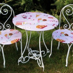 Ice Cream Table And Chairs Little Girls Vanity Chair Kid 39s Parlor Set