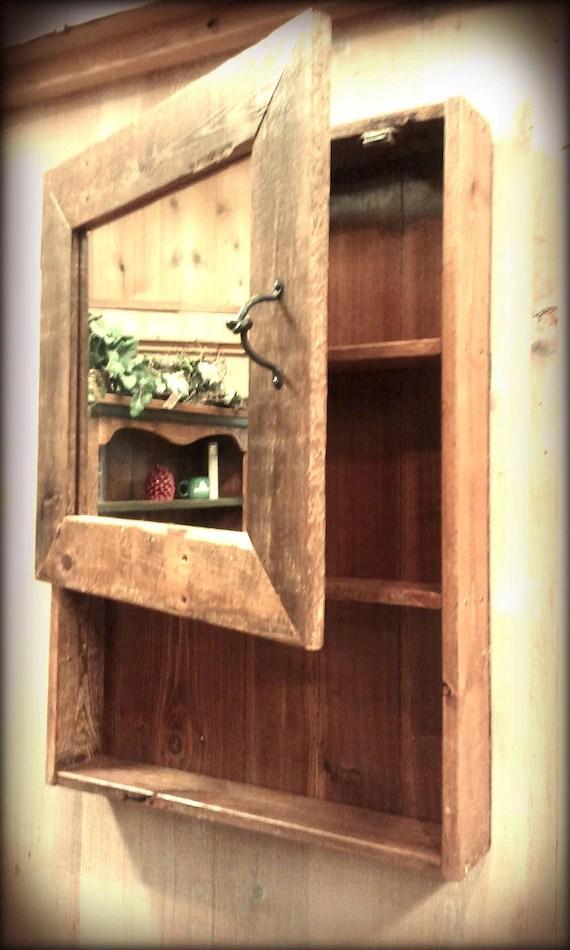 Items similar to Rustic Barn Wood Medicine Cabinet w