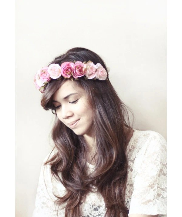 Claire Roses Flower Crown
