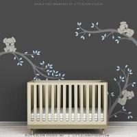 Blue Baby Boy Wall Decal Baby Nursery Tree Wall Sticker Decor