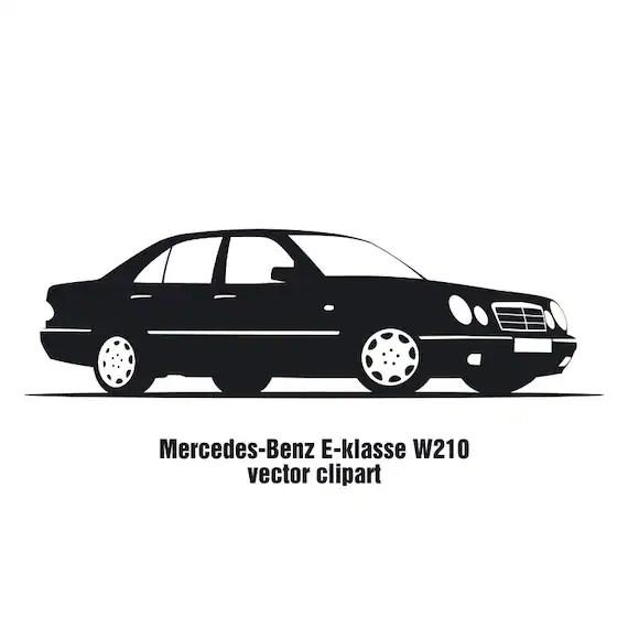 Items similar to Auto Mercedes-Benz E-klasse W210 vector