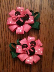 minnie mouse flower clips pink