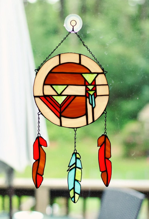 Beautiful And Unique Stained Glass Dream Catcher