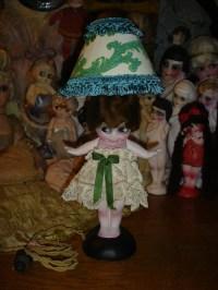 Reserved for Peta HTF 19 Chalkware Flapper Kewpie Lamp