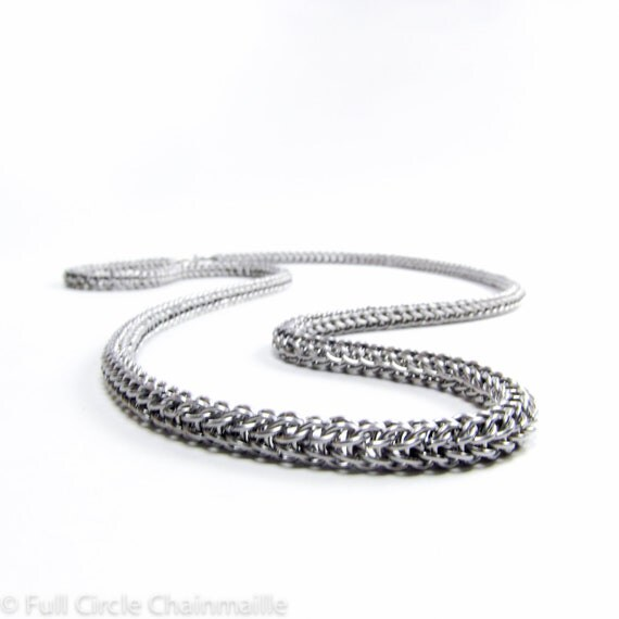 Micro Maille Chainmaille Necklace Full Persian Pattern