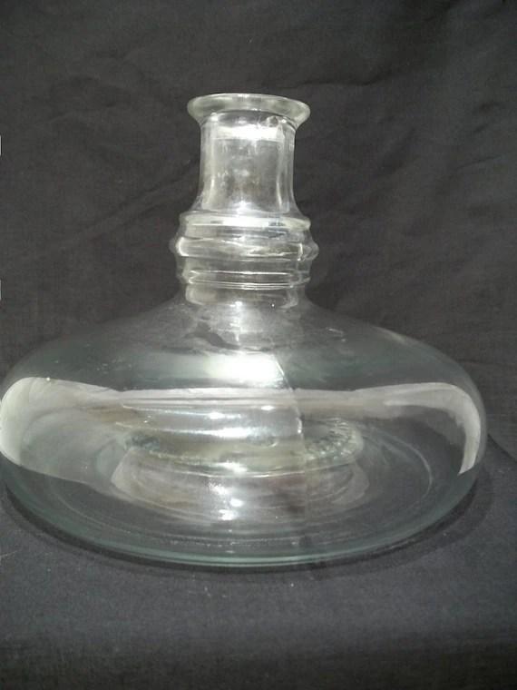 Vintage unique Shaped Post Prohibition Bottle Vase Squat