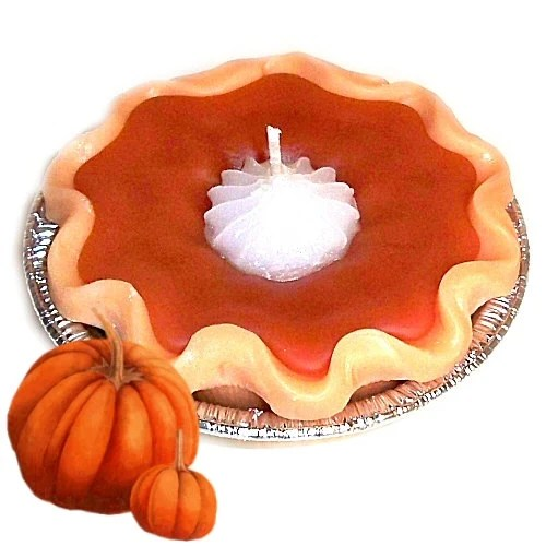 3 Inch Pumpkin Pie Candle Spicy Scent Thanksgiving Hostess Gift - WoodcraftsandCandles
