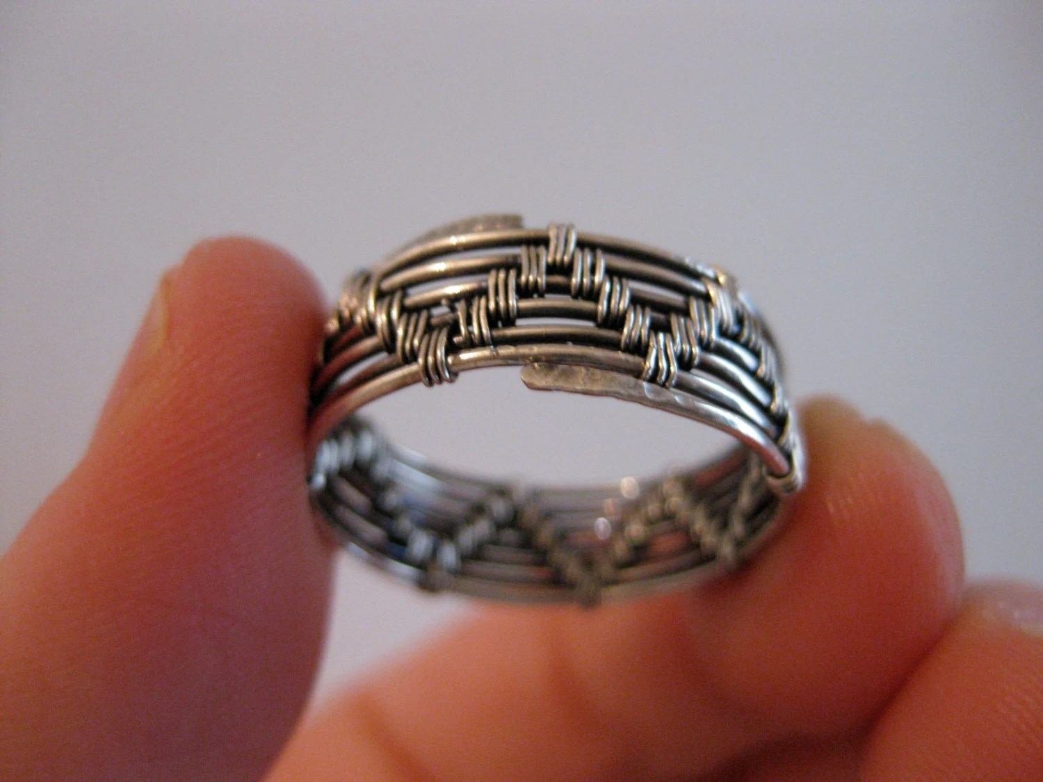 Items similar to Wire wrapped ring mens womens