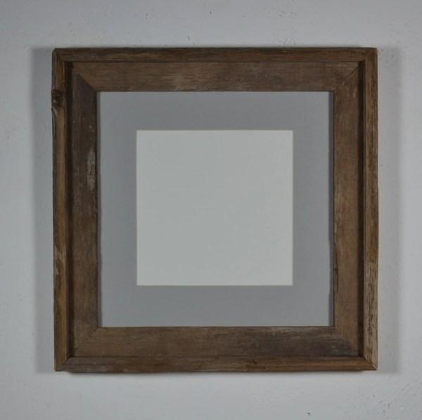 Barnwood Frame 12x12 With Light Gray Mat 8x8