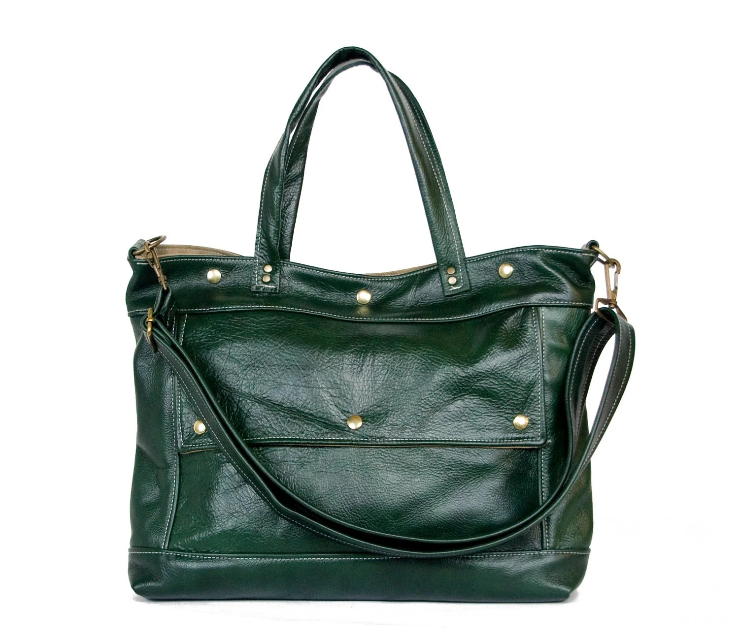 Archive Bag in Winter Green Leather - Made to Order