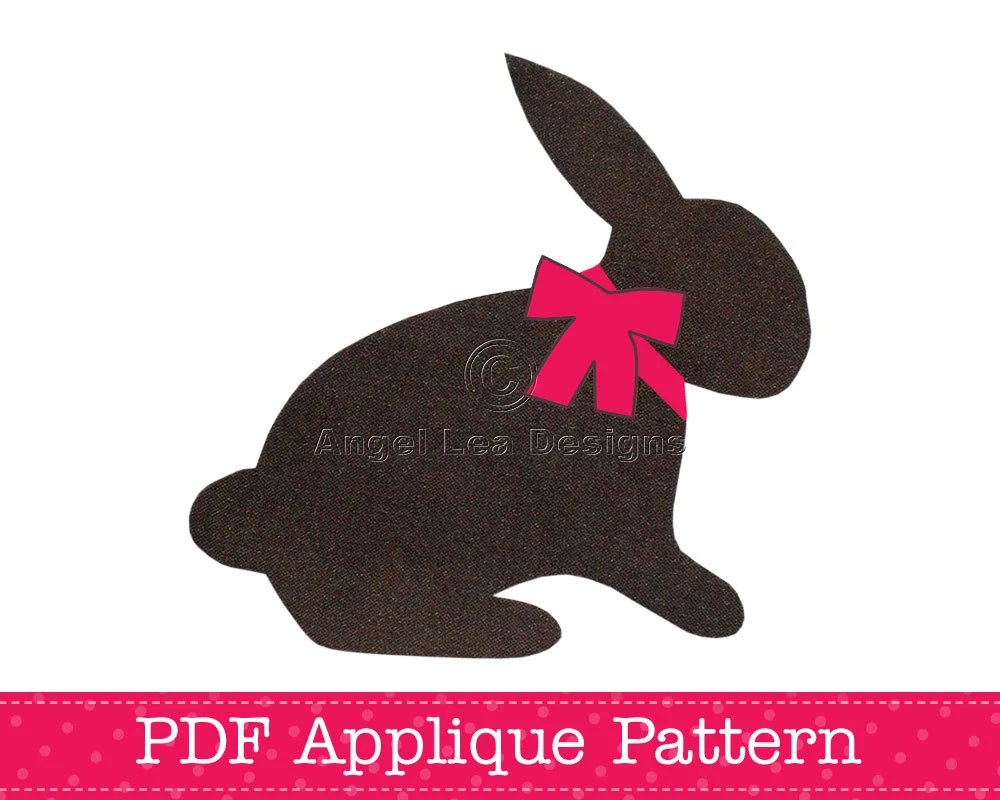Rabbit Applique Template Bunny Animal DIY Children PDF