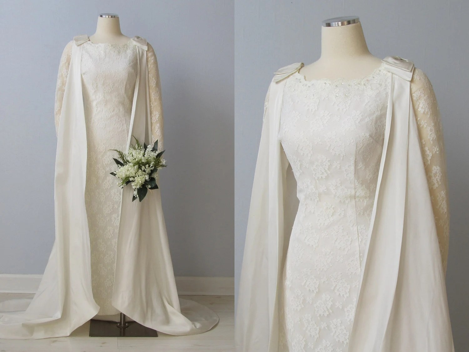 RESERVED 1960s Wedding Dress / 60s Bridal By