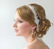 bridal ribbon headband lace