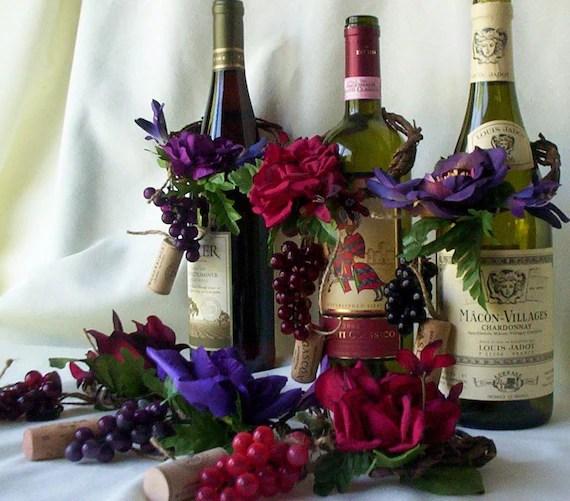 Wedding Centerpieces AmoreBride Wine Bottle toppers by AmoreBride