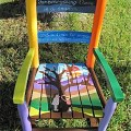 Hand painted kids rocking chair family tree shipping included in