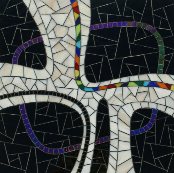 Original Stained Glass Mosaic Art Abstract