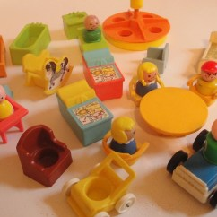 Little Girls Chairs White And Gold Chair Vintage Fisher Price People House Accessories 1970s
