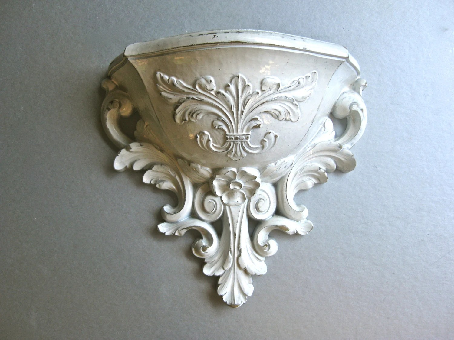 Vintage Wall Pocket Wall Sconce Planter Shabby Chic by Swede13