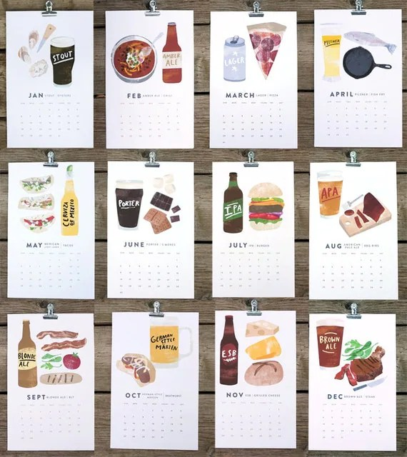 beer/food calendar 2013 by Heidi Schweigert