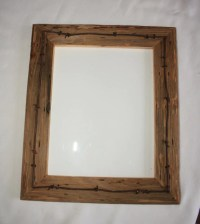 Reclaimed Wood Picture Frame 8 X 10 Vintage by RockyMtnVintage