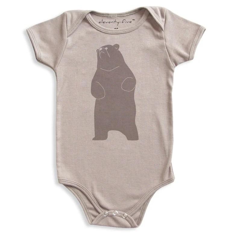 Be the Bear Organic Printed Baby Bodysuit 3-6m, 6-12m, 12-18m