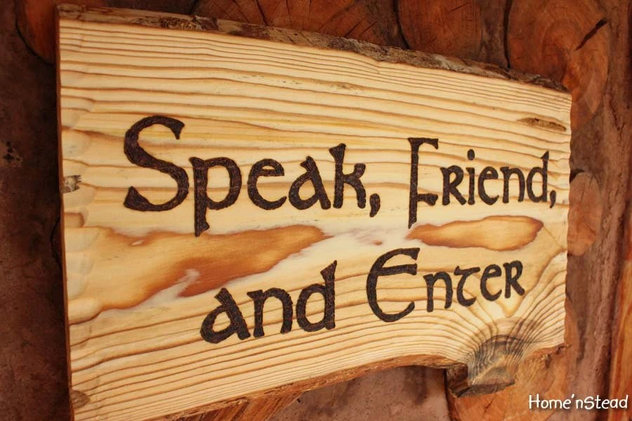 Speak Friend And Enter Lord Of The Rings Quote Funny Door