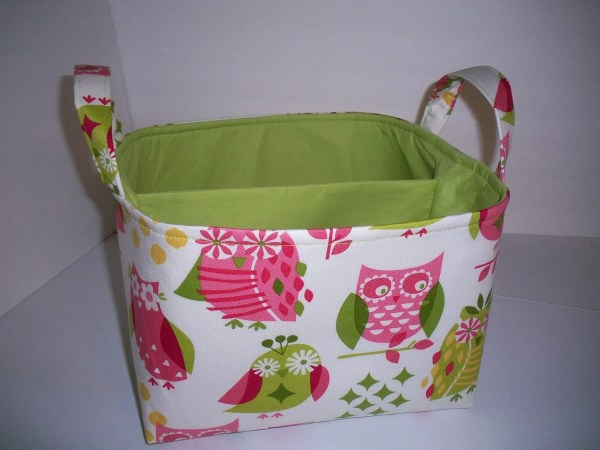 Large Diaper Caddy Organizer Bin Pink Bridgetsstitches