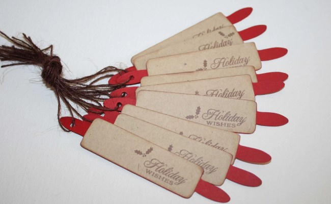 Christmas Rolling Pin Tags Bakery Labels Baked Goods For