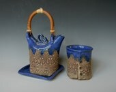 Royal Blue 1-Cup Tea Set - blueheronpottery