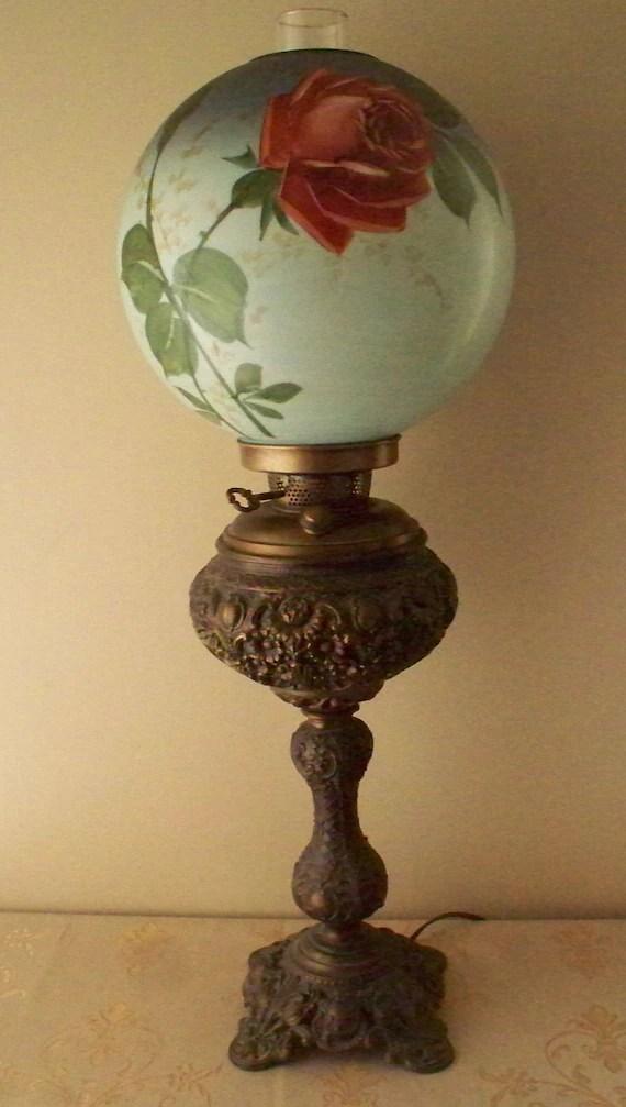 Antique Queen Anne Oil Lamp