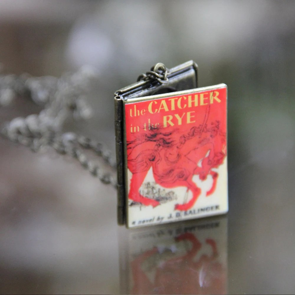 The Catcher in the Rye book locket w/ chain (large)