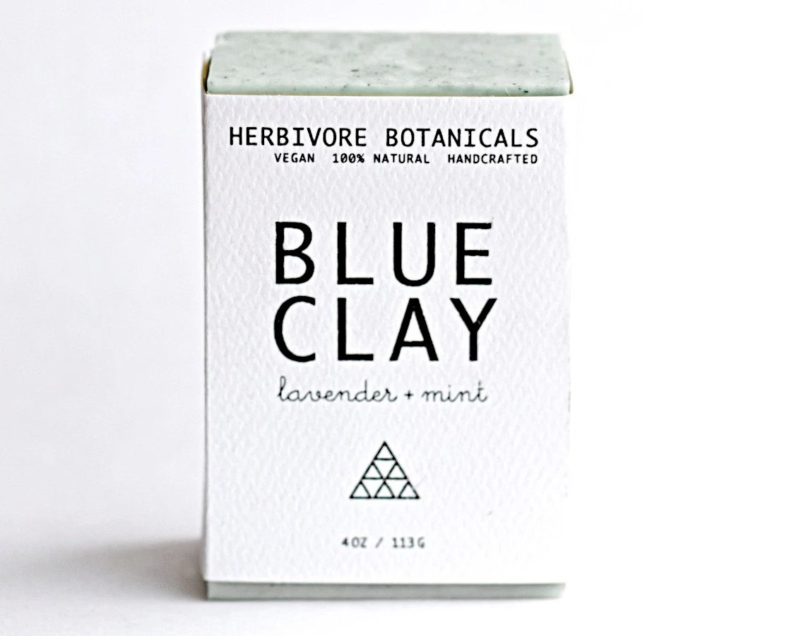 Cambrian Blue Clay Soap. Face and Body Soap. Vegan Handmade Soap. 100% Natural. Lavender Mint. Essential Oil. - HerbivoreBotanicals