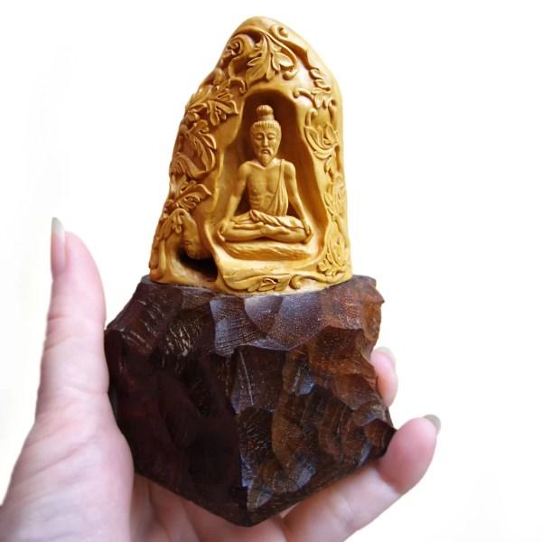 Wood Sculpture Art Handmade Carving Yoga