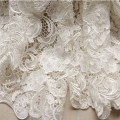 White wedding lace fabric bridal lace dress wedding gown supplies