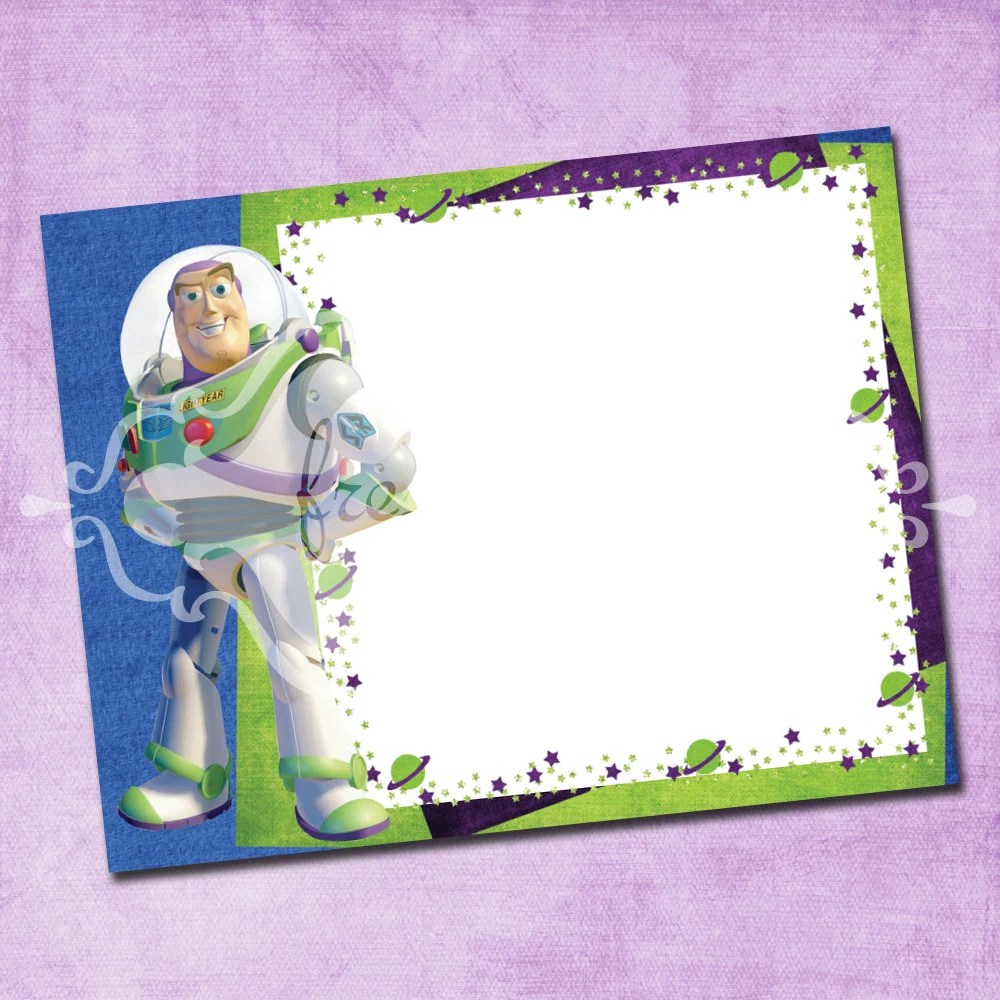 Buzz Lightyear Thank You Card