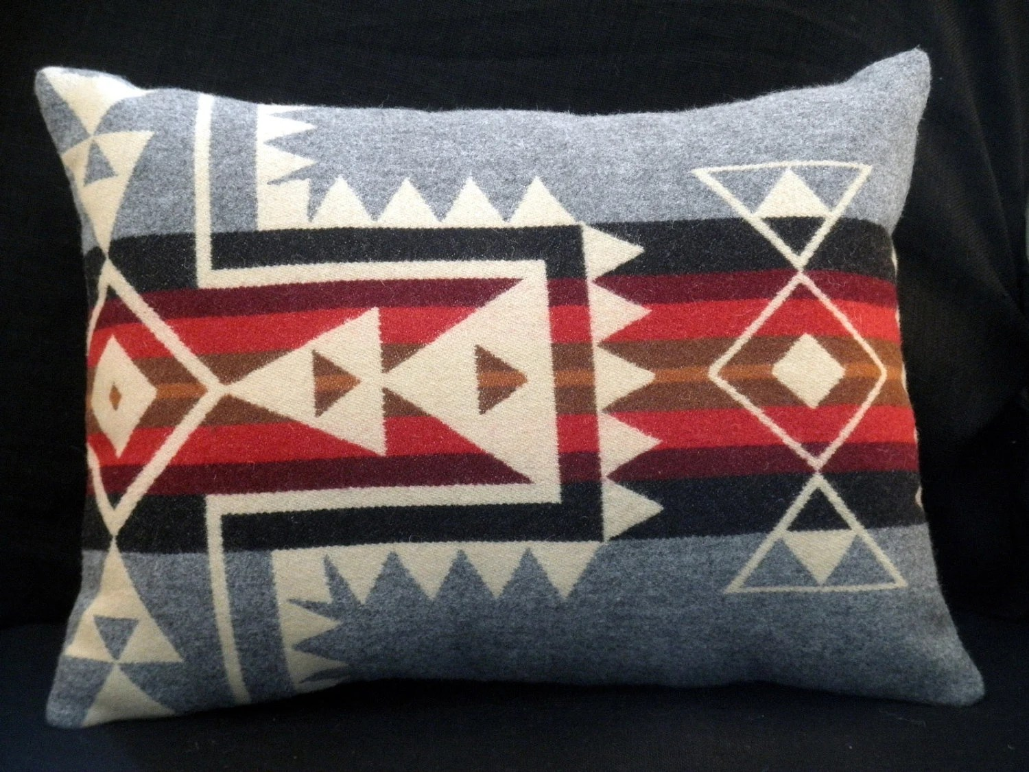 Pendleton pillow handmade modern graphic Native American