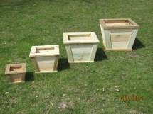 Wooden Outdoor Planter Flower Box Rustic Wood