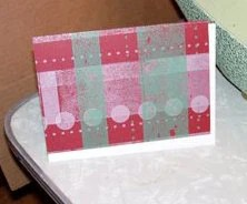 Plaid Letterpress Holiday Cards