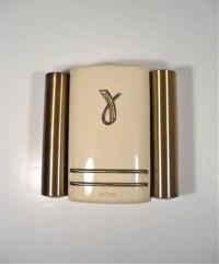 Vintage Door Chime Art Deco Nu Tone Doorbell by perfectpatina